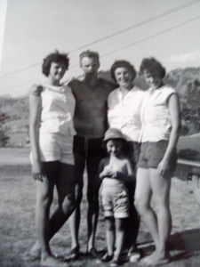 The author with her family, 1958